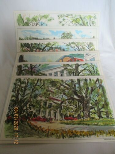 Exxon Esso Advertising Place Mats with Southern Landmarks Lot of 10