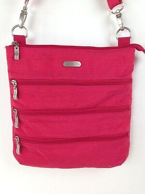 (Baggallini Zipper Bagg Purse Tote Shoulder Bag Red Orange Cross Body)