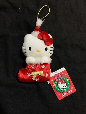 "2019 Sanrio Hello Kitty Stocking Plush Christmas Ornaments 5"" Set Trinkets ()"
