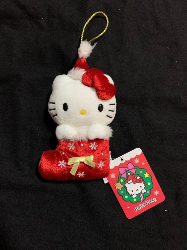 "2019 Sanrio Hello Kitty Stocking Plush Christmas Ornaments 5"" Set Trinkets"