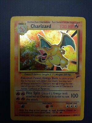 Pokemon TCG Base Set 2 CHARIZARD 4/130 Unlimited Edition Holo Foil HP