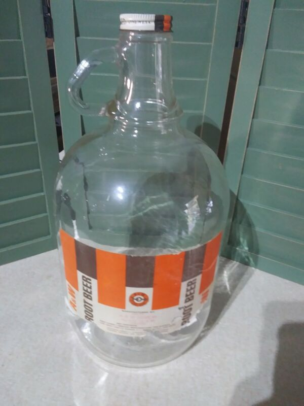 Vintage  A&W Root Beer One 1 Gallon Glass Jug