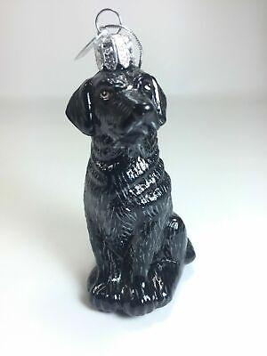 Black Labrador Retriever Dog Christmas Tree Kurt Adler Glass Ornament KSA