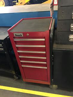 Kinchrome Sidchrome Beach tool drawer chest metal cabinet lock