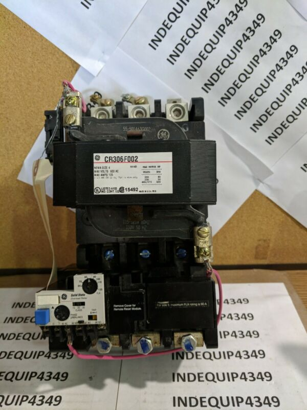 GUARANTEED! GE GENERAL ELECTRIC SIZE 4 CONTACTOR CR306F000XAAA 110/120V COIL
