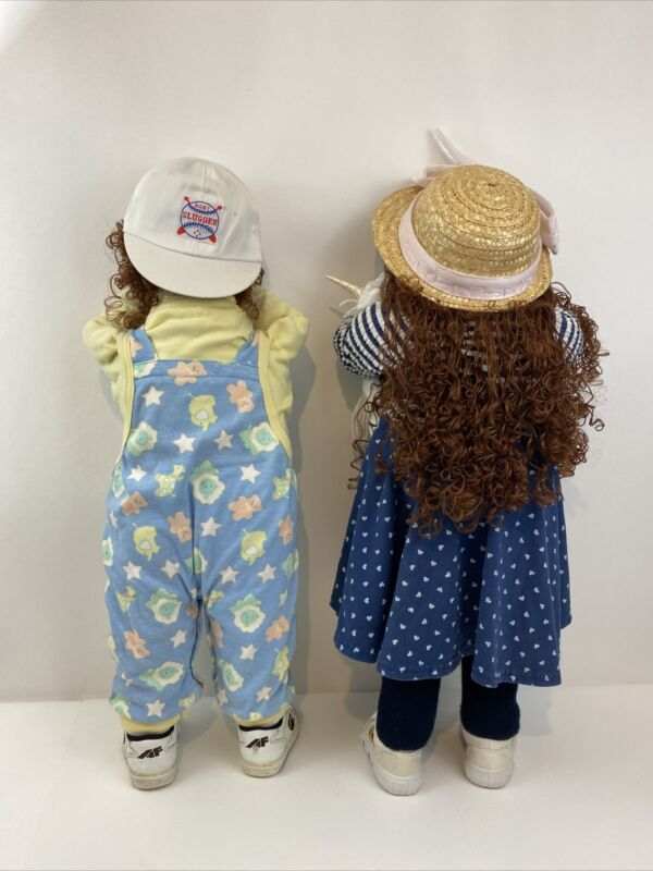 Time Out Doll / Kids In A Corner / Hide And Seek Doll Handmade Couple Toddler