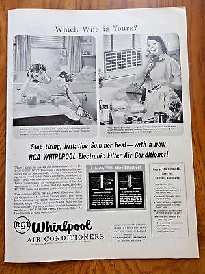 1956 RCA Whirlpool Room Air Conditioners Ad Which Wife is Yours?