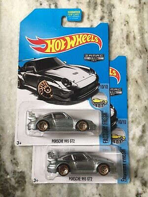 Hot Wheels Zamac Porsche 993 GT2 LOT of 2 2017 Walmart Exclusive super rare rwb
