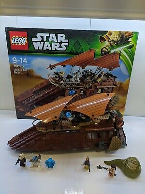 LEGO STAR WARS 75020  JABBA'S SAIL BARGE 100% COMPLETE WITH MINIFIGURES & BOX