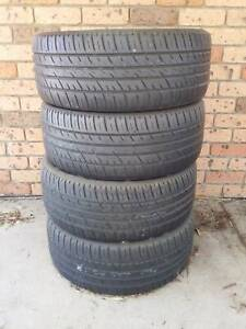 car tyres drift burnouts falken 225/45r18 91 w set of 4 90% tread