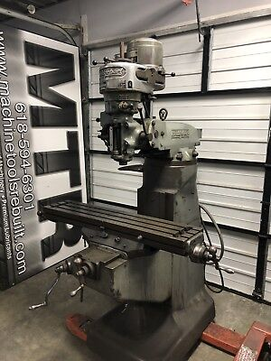 9 X 42 1hp Bridgeport Vertical Milling Machine