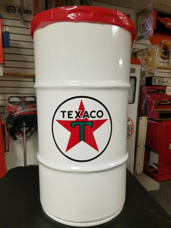 TEXACO STAR  40S 50S 60S VINTAGE STYLE 16 GALLON COLD ROLLED STEEL TRASH CAN