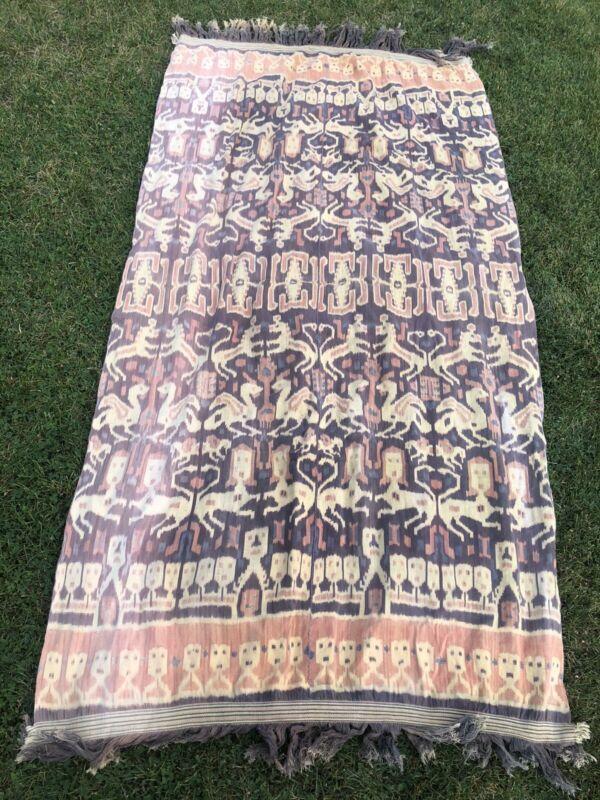 Vintage Sumba Hinggi Indonesian Ikat Weaving