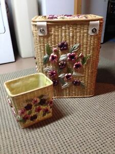 Wicker Laundry Basket - REDUCED