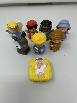 Fisher Price Little People Nativity Backdrop Mary Jesus Joseph Replacements