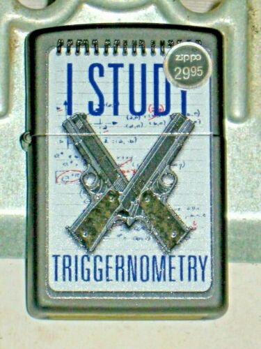 New Windproof USA Zippo Lighter 13316 I Study Triggernometry 2nd Amendment Right