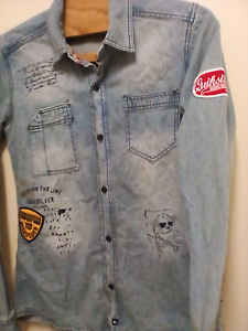 Quicksilver Denim Shirt size Small Elizabeth Vale Playford Area Preview
