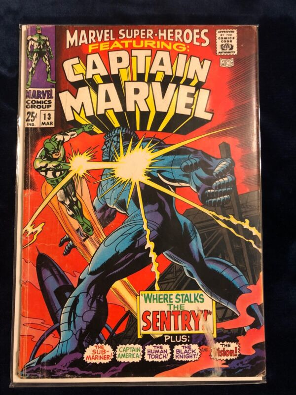 Marvel Super-Heroes #13 Captain Marvel (1st App of Carol Danvers) - 3.5 (VG-)
