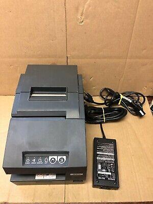Epson Tm-h6000ii M147c Usb Pos Receipt Printer Gray W Power Adapter