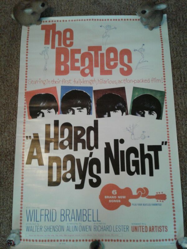 The Beatles *A Hard Days Night* USA Movie Poster 1964 24x36