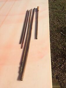 Cleaning rods, Vintage wood