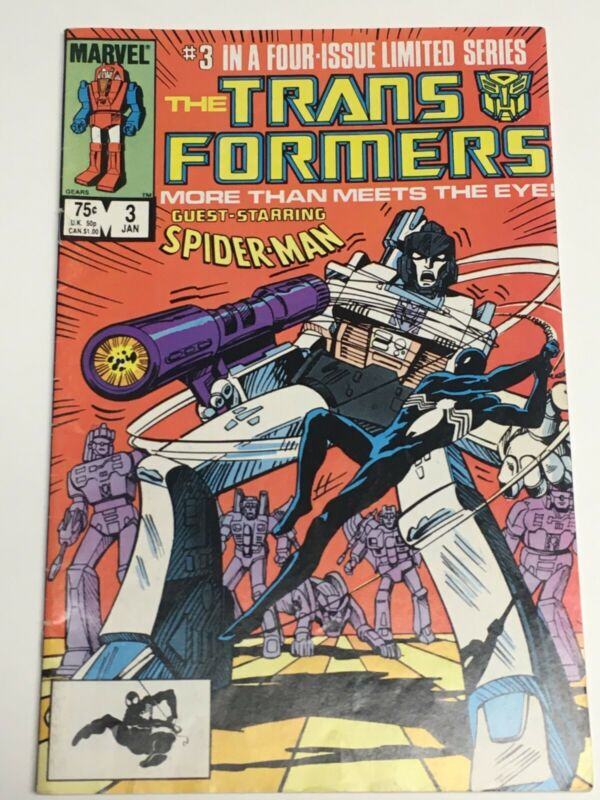 Transformers Comic Book #3 Marvel Spiderman Guest Appearance