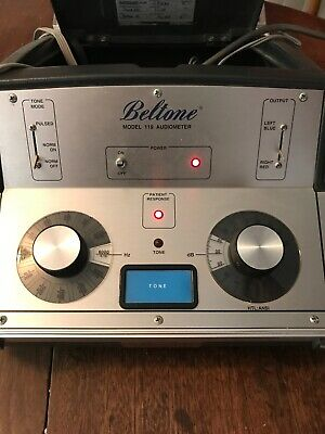 Beltone 119 Audiometer With Headphones And Patient Switch