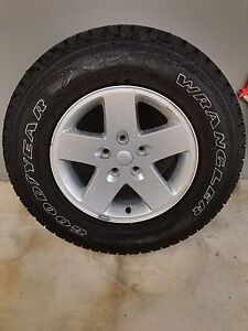 JK Jeep Wrangler 245/75/17 OEM spare alloy, tyre and Jeep logo cover Bardon Brisbane North West Preview