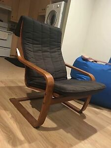POÄNG Rocking chair, black-brown, Ransta black