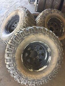 Mud tyres and rim 33 Brendale Pine Rivers Area Preview