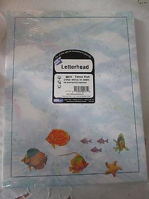 Nautical Fancy Fish Stationery, Acid Free, 100 Sheet Ct., 8.5