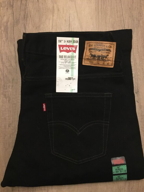 Boys Lev's NWT Black Relaxed 14 Husky 33X28 ***MSRP 38$****