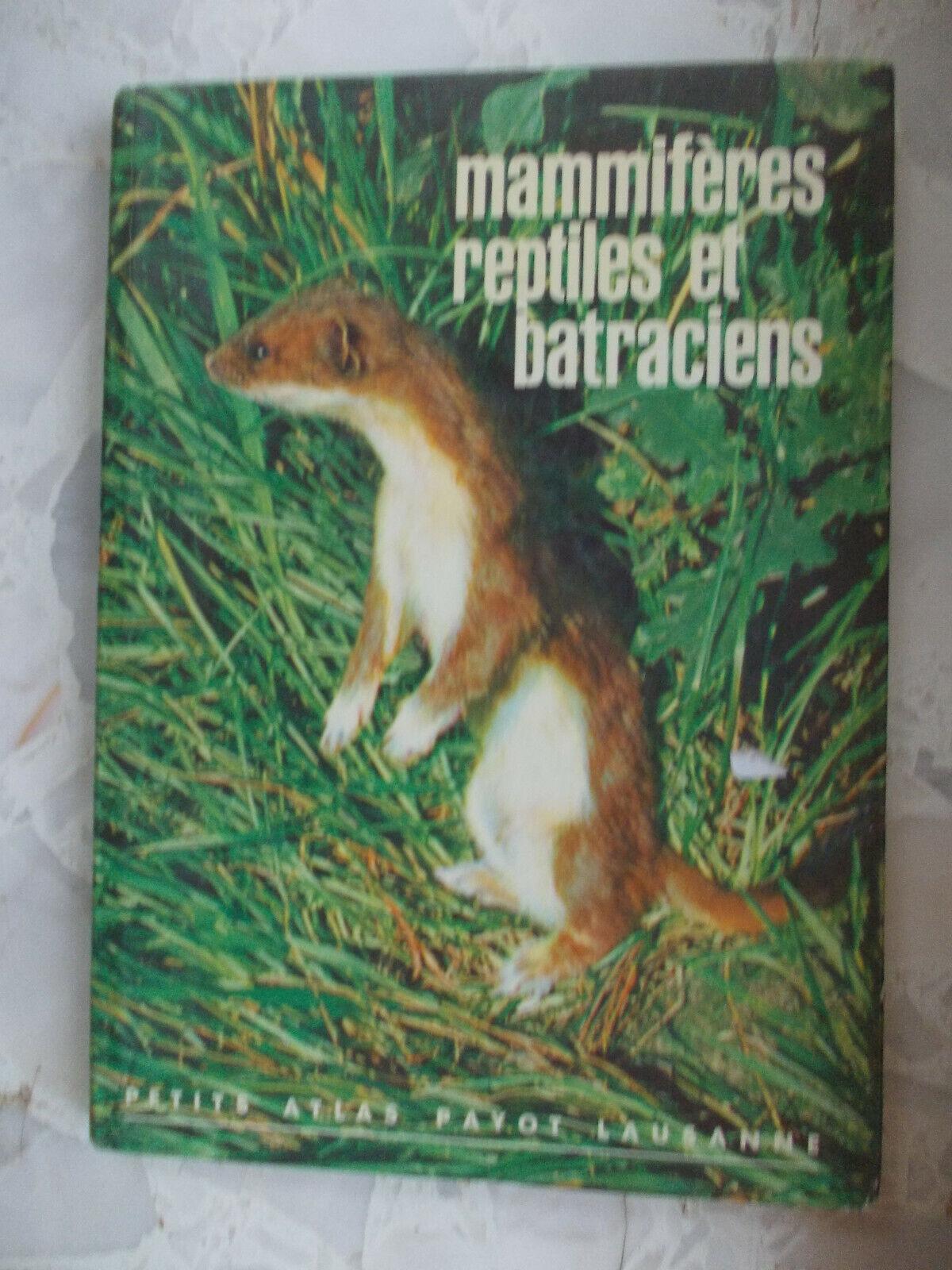 Lot 7 livres & livrets sur les animaux oiseaux reptiles faune europe afrique etc