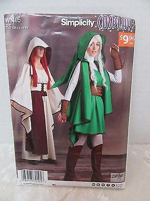 Simplicity W0105 R514-22 Womens Uncut Halloween Costume Pattern Cosplay Gaming](22 Halloween Games)