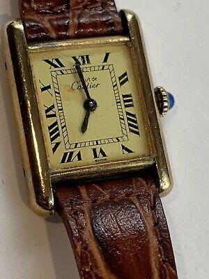 Vintage Cartier Must De Swiss tank mechanical manual wind Ladies Watch