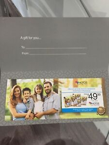 Gift card portrait package
