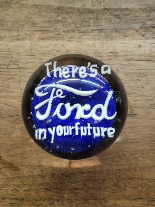 Vintage Ford Glass Paperweight