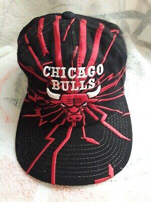 Vintage Chicago Bulls Starter Snapback Hat Earthquake Shockwave