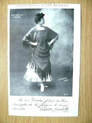 Postcards of Edwardian Theatre & Opera Stars: ZAMBELLI OPERA STAR by Vin Desiles