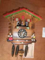 Cuckoo Clock Black Forest  SEE VIDEO Musical Chalet 1 Day CK2297
