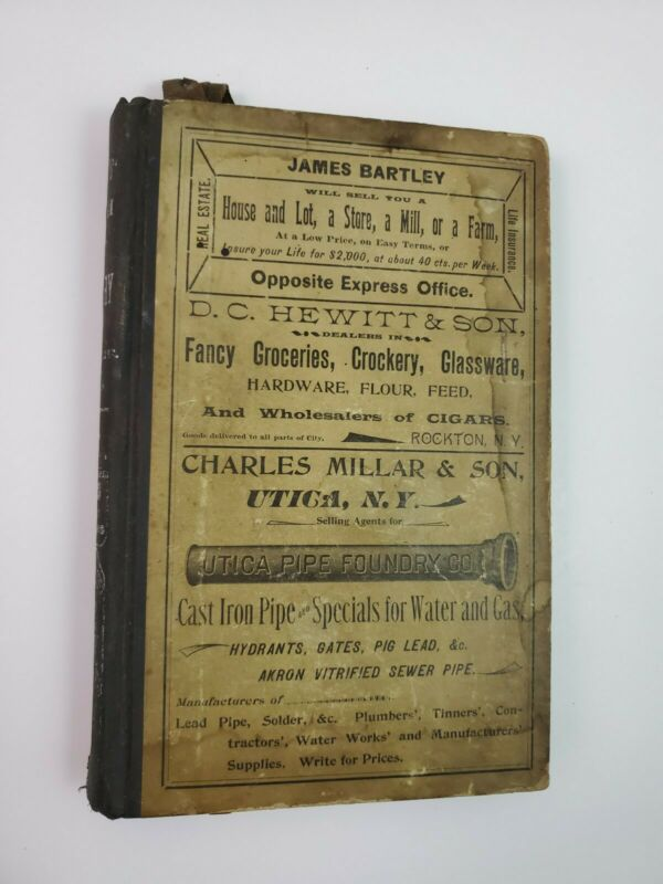 1893 Williams Amsterdam New York City Directory Vintage Address Guide Book NY