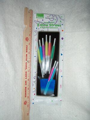 Glow Straws (24 Glow Straws -Drinking Glow in The Dark Straws - THREE PACKS OF 8 STRAWS EACH )