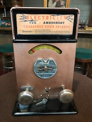 "1920's Arcade Game ADVANCED ""Electricity Shock Machine""  ""Watch Video"""