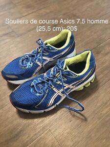 Souliers de course Asics 7,5 homme ou 25,5 cm