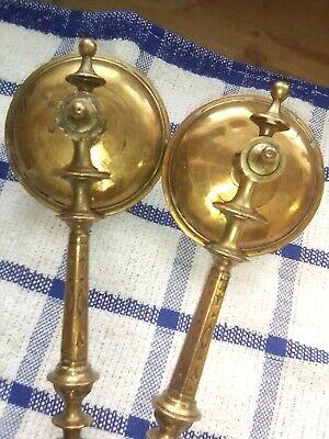 antique brass candle sconces