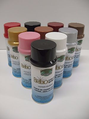 BRILLO Shoe Color Spray Leather Paint/Dye Leather & Vinyl coloring - pic-a-color](Dye Spray)