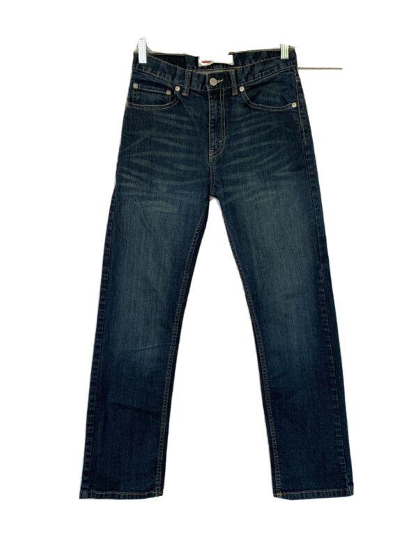 Levis Boys Jeans 505 Regular 18 Size Slim Dark Wash Blue Straight