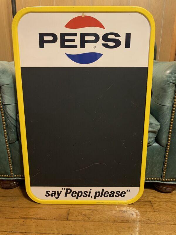 1965 Pepsi Menu Advertising Sign