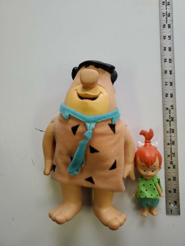 fred and pebbles flintstones vinyl figures dolls applause 1990