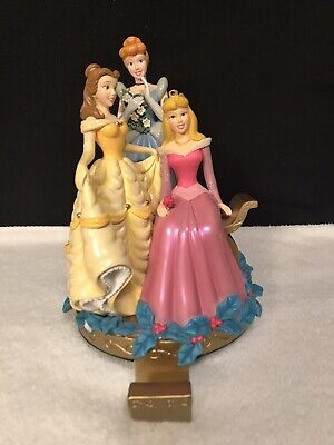 Disney Princess Holiday Stocking Hanger Holder Cinderella Aurora Belle  ()